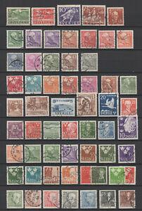 Briefmarken Sammlung Schweden 1935 - 1954  s. Scan
