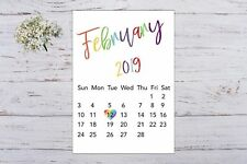 Pregnancy Announcement Calendar Rainbow Baby Due Date Personalised Unisex A4