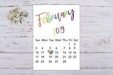 Pregnancy Announcement Calendar Rainbow Baby Due Date Personalised Unisex A4 Siz