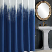 DS BATH Ombre Blue Printed Polyester Microfiber Waterproof Shower Curtain