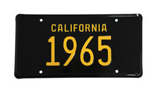 New! 1965 CALIFORNIA Vintage Look Black Yellow License Plate Free Shipping 65-C