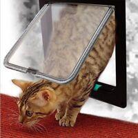 Lockable Dog Cat Kitten Door Security Flap Door Plastic Animal Small Pet Gate