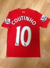 Liverpool Home Shirt 2015 2016. Coutinho. Medium. Boys.