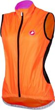 Castelli Velo Women's Cycling Vest Fluo Orange Size Small : SUPER LIGHT