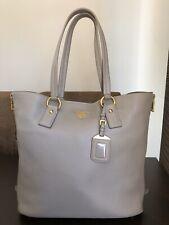 100%Original PRADA MILANO VITELLO DAINO Leder XL Shopper Tasche Etoupe(grau) TOP