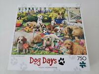 Buffalo Games Dog Days Puppy Playground 750 Piece Jigsaw Puzzle NEW Sealed