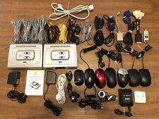 Lot Of 40 Random Computers Accessories, Cables, Web Cameras, Mice, Logitech