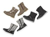 Kids' Girls Boots  7 7.5 8 9 10 11 / 24 25 26 27 28 29 Zip Black & White Winter