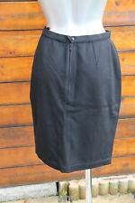 luxueuse  jupe laine noire THIERRY MUGLER taille 38 (I 42) QUASI NEUVE