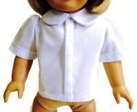 "White Blouse Shirt Top made for 18"" American Girl Doll Clothes"