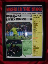 Barcelona 3 Bayern Munich 0 - 2015 Champions League semi-final - framed print