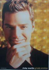 "RICKY MARTIN ""PRIVATE EMOTION"" AUSTRALIAN PROMO POSTER - Latin Pop Music Legend"