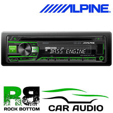 Alpine CDE-201R - CD MP3 Android USB AUX GREEN Display Car Stereo Radio Player