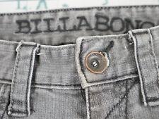 Billabong Men's Regular Fit Denim Low Rise McFeely Jeans - Grey Sz 31x31 Y149z