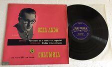 "RARE LP 12"" COLUMBIA 33CX 1073 UK GEZA ANDA BRAHMS VARIATIONS PAGANINI SCHUMANN"