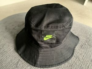 NIKE BOYS BUCKET HAT - BLACK / VOLT KIDS BOYS GIRLS YOUTH - S/M