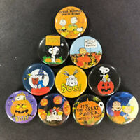 "Charlie Brown 1"" Button (10 Pin) Set Halloween Snoopy Great Pumpkin"