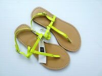 GAP Kids Toddler Girls Yellow T-Strap Flats Buckles Sandals - Size 13 - NWT