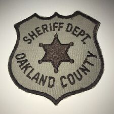 Vintage Oakland County Sheriff Dept Michigan Police Patch Cheesecloth