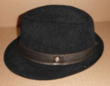 STETSON Corduroy FEDORA Hat  BLACK size SMALL / MEDIUM