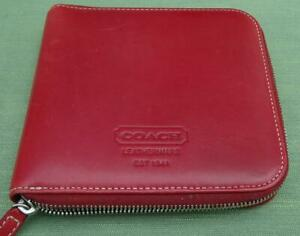 Coach 1941 Red Leather Photo Album with Zip Fastening