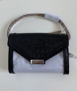 NWT Michael Kors Leather & Vinyl Belt Bag Clear Black Size L/XL