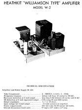 Circuit diagrams-Schaltpläne für Heathkit W-2