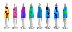 "Retro Lava Lamp 16"" Peaceful Motion Wax Liquid Relaxation Light 15 Colours"