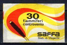 MATCHBOX LABELS-ITALY. Anti-wind matches, SAFFA #