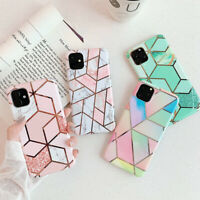 For iPhone 11 11 Pro Max X XS Marble Shining Soft TPU Silicone Protection Case