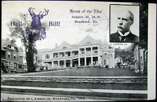 BRADFORD PA~ 1910 HOME OF THE ELKS  ~ Residence of L. Emery Jr.