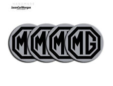 MG ZS ZR ZT LE500 Alloy Wheel Centre Caps Badges MG Logo 57mm Badge Black Silver