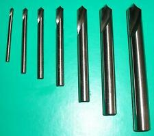 Gloster Set of 7 HSSCO8 spotting drills 90° excellent quality, CNC spot