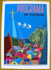 Vera Cortes Union Paz Amor Poster Serigraph Navidad 1983 DIVEDCO Puerto Rico