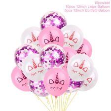 15 Pcs Unicorn Confetti Balloon Flamingo Mermaid Wedding Birthday Party Balloon