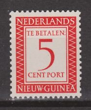 P2 Indonesia Nederlands Nieuw Guinea New Guinea port 2 MLH ong due stamp 1957