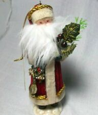 Santa. Ornament Figurine Seasons Midwest of Cannon Falls Red Velvet Coat 6""