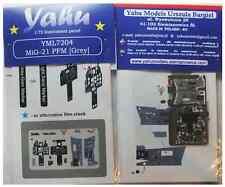 Yahu Models yml7204 1/72 PE MIKOYAN MIG -21pfm (Gris) Panel Instrumento