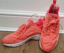 NIKE AIR HUARACHE Women's Neon Orange Fabric Branded Sneakers Trainers EU40 UK6