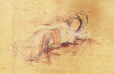 WILLIAM T SWANTY (1940-) RARE Original ink chalk Nude Bali Indonesia Dancer 1965