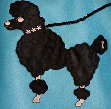 """Aqua Blue FELT Poodle Skirt _ Adult Size XL-3XL _ Waist 40""""- 50"""" _ L 25"""""""