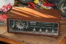 Vintage Desktop Sony Radio     Tested Working