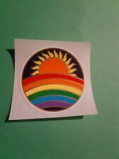 vintage 80's illuminations sun rainbow sticker *restored*(free ship $20 min)