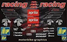 APRILIA RS 50 carrera moto decal/Conjunto Gráfico