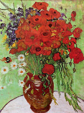 Vincent Van Gogh Red Poppies and Daisies Poster Art Print 24X36 (61X91.5cm)