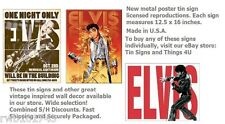 3 Elvis TIN SIGN metal posters vintage retro home bar diner wall art decor LOT
