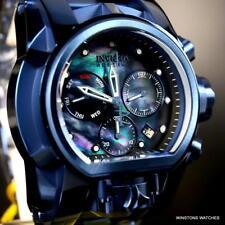 Invicta Reserve Bolt Zeus Magnum Blue Ion Plated Black MOP 52mm Swiss Watch New