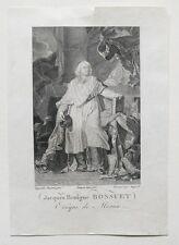 Gravure XIXème - Jacques-Bénigne Bossuet - Pauquet - Dupréel - Hyacinthe Rigaud
