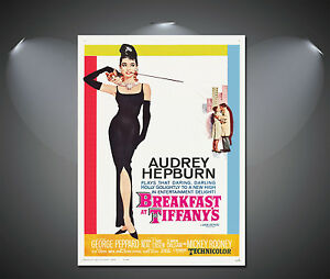Audrey Hepburn Breakfast at Tiffany's Vintage Poster - A1, A2, A3, A4 available