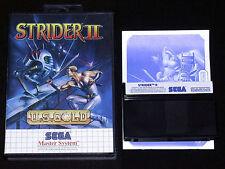 STRIDER II 2 Sega Master System Versione Europea PAL ••••• COMPLETO